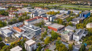 aerial view of the Universitätsklinikum Dresden