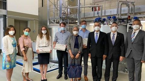 Gruppenbild mit der thailändischen Delegation