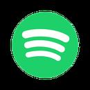 Logo von Spotify: Ein grün gefüllter Kreis in dessen Zentrum drei leicht nach unten gekrümmte weiße Striche untereinander liegen, die von oben nach unten etwas kleiner werden.