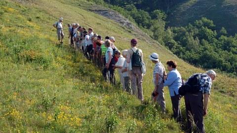 Exkursion im Naturschutzgebiet