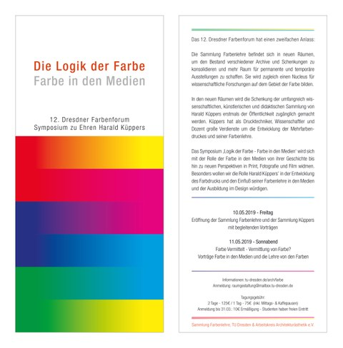 12. Dresdner Farbenforum - Flyer
