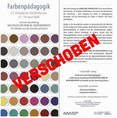 13. Dresdner Farbenforum - Flyer