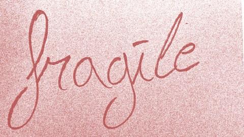 "Schriftzug ""fragile"""