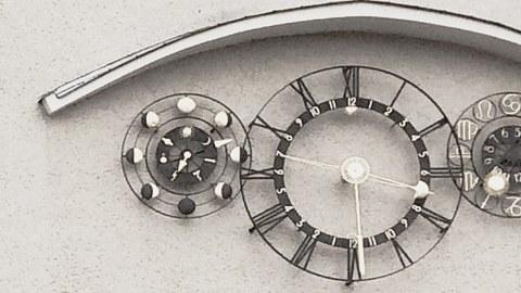 Uhr am Willersbau, TU Dresden