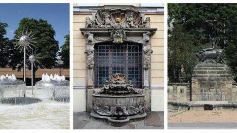 Brunnen und Wasserspiele - Übungen zur Denkmalpflege