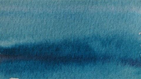 aquarell ozeanblau