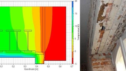 Hygrothermische Simulation eines Details am Fenstersturz