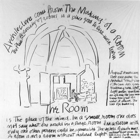 Louis I. Kahn: Drawing for City/2 exhibition, Philadelphia, 1971