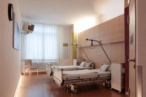 Bild eines demenzfreundlichen Patientenzimmers
