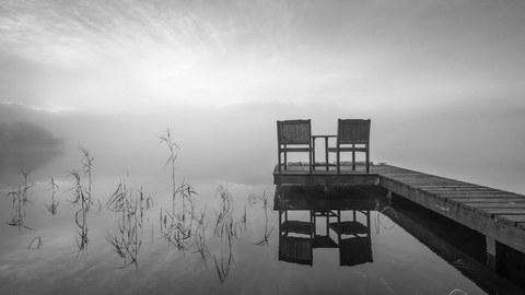 Steg an einem See