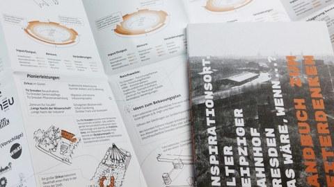Handbuch zum Weiterdenken ZfBK TU Dresden Greiner-Petter Neumayer Senger Alter Leipziger Bahnhof Dresden Professur für Darstellungslehre Fakultät Architektur Bäumler