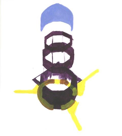 Inken Hamp, Serie Oktogon IIV (violett)