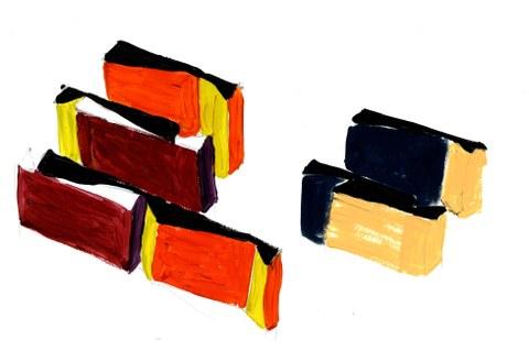 Maren Luger, Staffelung Farbskizze