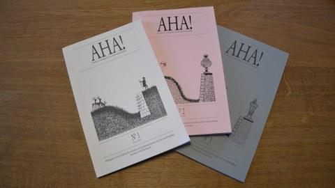 Foto zeigt die vom Lehrstuhl herausgegebenen AHA-Fachzeitschriften.