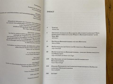 Inhaltsverzeichnis des AHA Nr. 7
