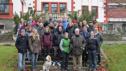 Foto zeigt ein Gruppenbild des Pflegeeinsatzes in Thammenhain 2015.