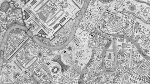 Piranesi, map of Rome