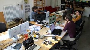 Studierende bei der Arbeit
