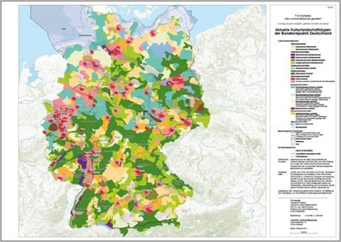 graphische Darstellung zu den aktuellen Kulturlandschaftstypen der Bundesrepublik Deutschland