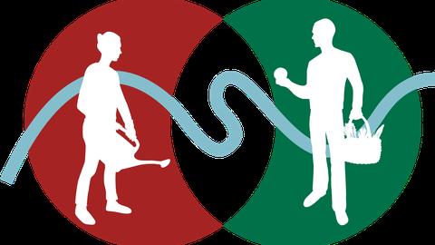 graphische Darstellung des Logos zum Forschungsprojekt stadtpartheland