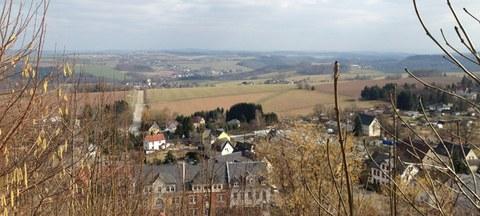 Foto mit Blick ins Umland von der Augustusburg aus gesehen