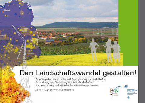 Die Abbildung zeigt das Cover des 1. Bandes der Forschungsarbeit Landschaftswandel gestalten.