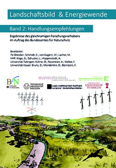 """Deckblatt zur Broschüre """"Landschaftsbild und Energiewende"""" Band 2: Handlungsempfehlungen"""