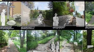 """Das Bild zeigt einen Ausschnitt einer studentischen Abschlussarbeit zum Thema """"Catch dir Landschaft!"""" (Collage)"""