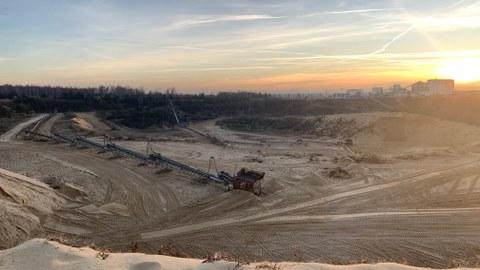 Blick über die Sandgrube im Dresdner Heller