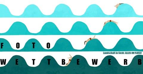 Plakat zur Ankündigung des Fotoworkshops  zum Thema Landschaft in Sicht: Alles im Fluss