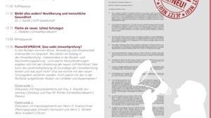 """Die Abbildung zeigt das Plakat der Planergespräche 2015 mit dem Thema """"Umweltprüfung und Landschaftsplanung""""."""