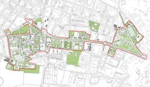 graphischer Ausschnitt aus dem Masterplan Campusgestaltung TU Dresden
