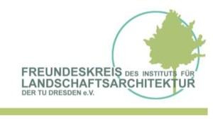 graphische Darstellung des Logos des Freundeskreises des Instituts für Landschaftsarchitektur mit Umrissen eines Baumes
