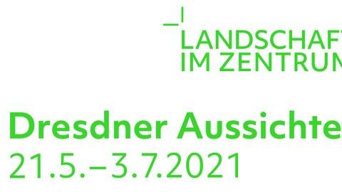 Schriftzug Dresdner Aussichten Ausstellung