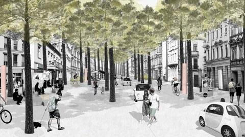 Graphische Darstellung zum Entwurf Königsbrücker Straße