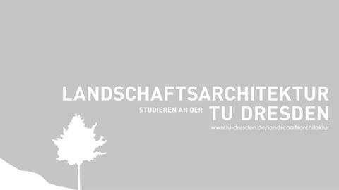 """Deckblatt des Flyers zu """"Landschaftsarchitektur studieren an der TU Dresen"""""""
