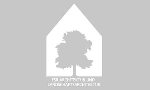 graphische Darstellung des Logos Fachschaftsrat Architektur und Landschaftsarchitektur mit Umrissen eines Baumes