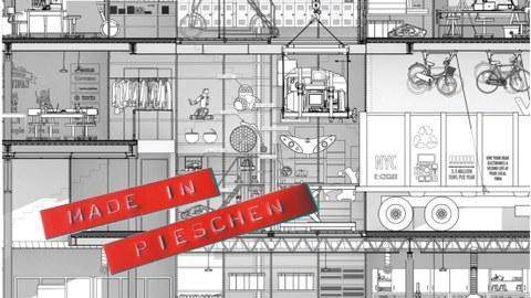 "YMBA-MicrofactorySchnitt: Hand Dong und Harry Wei. Aus: Nina Rappaport, ""Vertical Urban Factory"", Actar Barcelona 201"