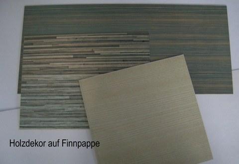 Muster Holzdekore auf Finnpappe