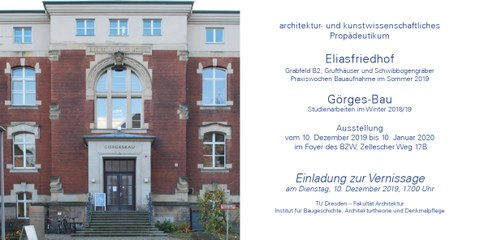 Ausstellung Propädeutikum