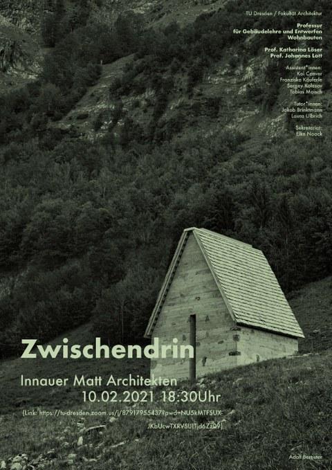Eine kleine Hütte am Berg ist abgebildet, angegeben sind die Termine für die Veranstaltung, siehe Text