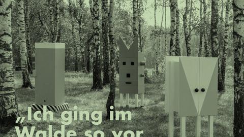 Plakat zum Vortrag von MAX OTTO ZITZELSBERGER Wald der Reihe Mythos, alle weiteren angegebenen Informationen stehen im Text des Beitrages