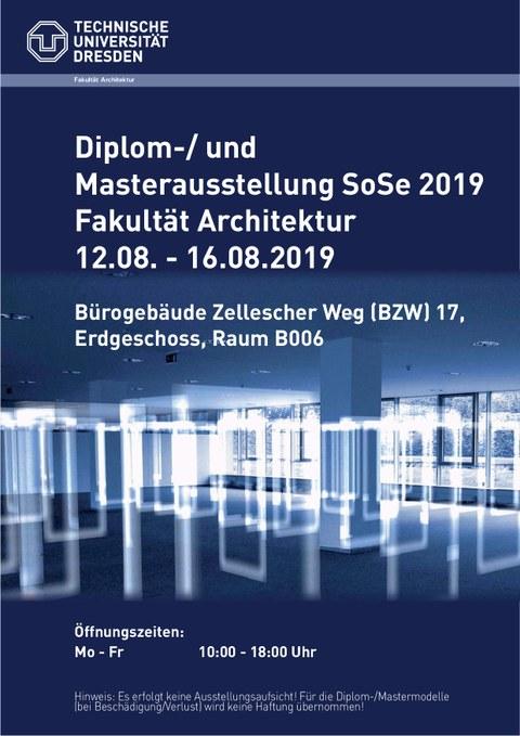 Ausstellung Diplom-/Masterarbeiten Sommersemester 2019