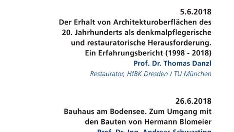 Werkbericht Denkmalpflege