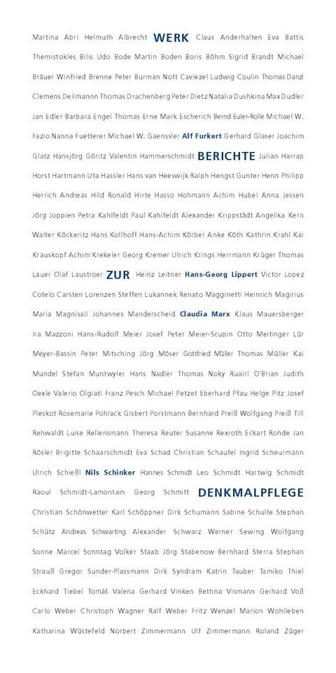 Werkberichte zur Denkmalpflege WS 2019/20