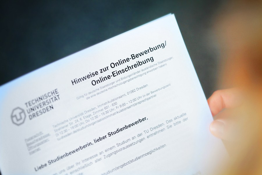 Bewerbung Und Immatrikulation Studium Tu Dresden 3