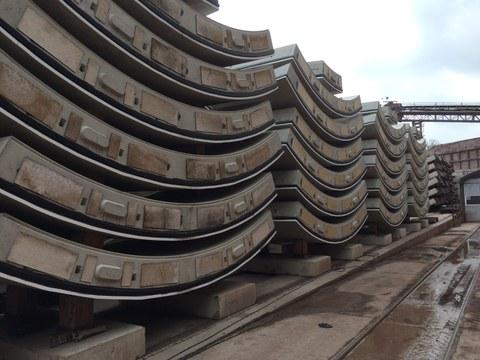 Tübbinge Baustelle Fildertunnel