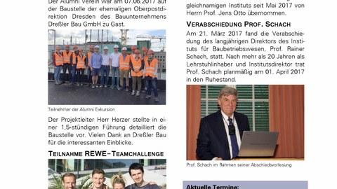 Abbildung Deckblatt Alumni Newsletter