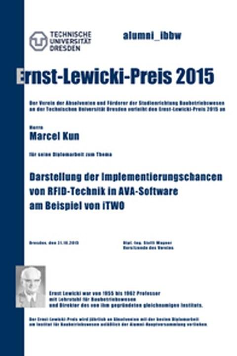 Ernst-Lewicki-Preis 2015 an Marcel Kun