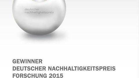 Logo Deutscher Nachhaltigkeitspreis Forschung 2015